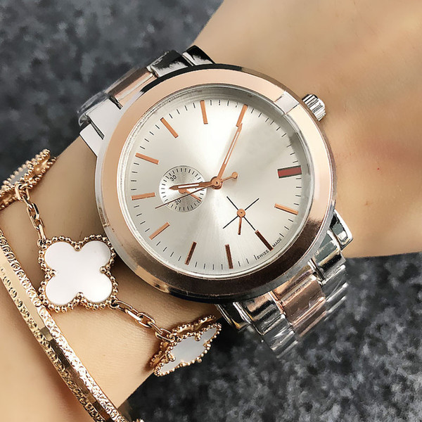 zichen080514 / Fashion Brand Women's Girl style Metal steel band quartz wrist watch GU36