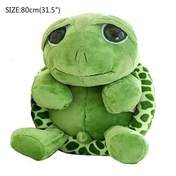 "80cm(31.5"") Large Tortoise Stuffed Animals Doll Soft Plush Toy Lifelike Giant Plush Toys Tortoise Pillow Large Realistic Stuffed"