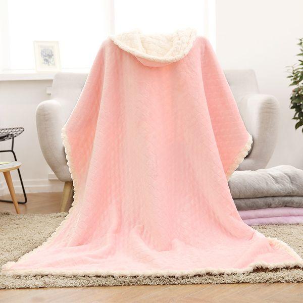 180*200cm Flannel Baby blankets thicken double layer fleece infant envelope stroller wrap for newborn baby bedding blanket