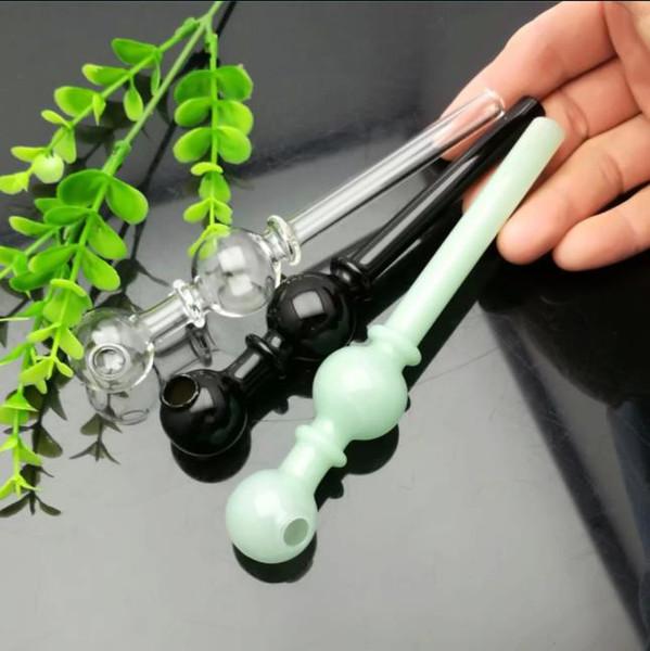 Bote de color con doble burbuja directa bote de vidrio Bongs de vidrio Quemador de aceite Pipas de agua de vidrio Plataformas de aceite Instalaciones para fumar Gratis