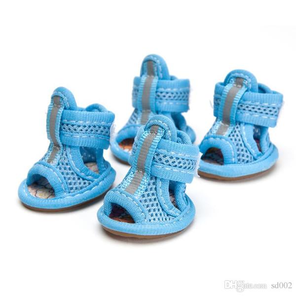 Breathable Pet Supplies Schuhe Rutschfeste weiche Unterseite Ox Tendon Gummisohle Sandalen mit Bowknot Dekor kleiner Hund viele Größen 9 8yj ZZ