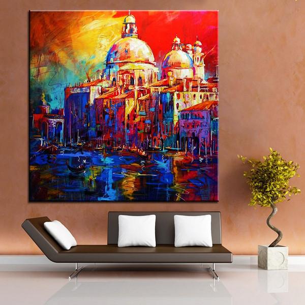Grande taille Impression Peinture À L'huile Impression POP Mosque NO-61 Peinture Murale Décor Mur Art Image Pour Salon peinture No Frame