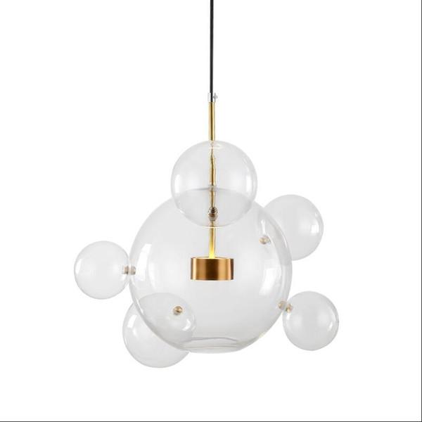Lovely Creative LED 14W 110V 220V Glass Mickey Transparent Glass Pendant Lamp Lights for Dining Room Bar Kids' Room LED Hanging Light
