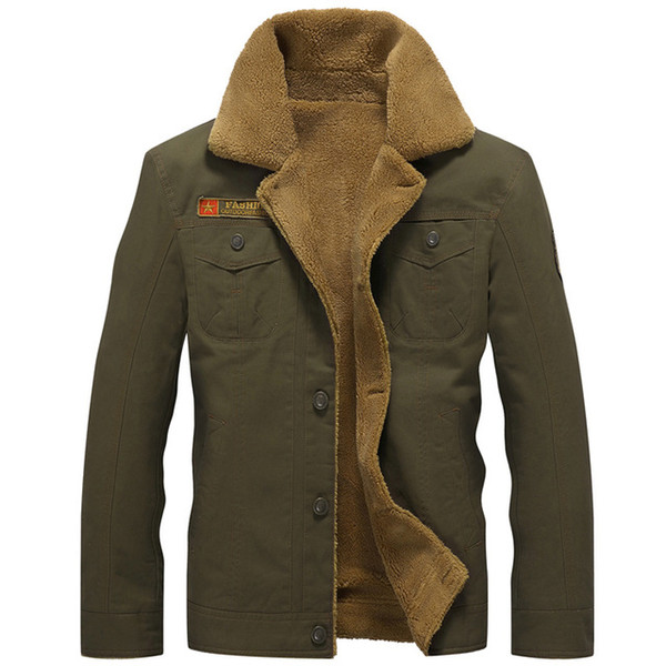 Winter Army Airborne Pilot Tactical Jacket Man Warm Military Jacket Coat Men's Thick Liner Air Force Cotton Jackets