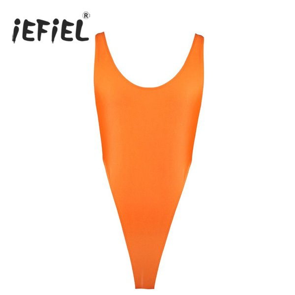 iEFiEL Hot Sale Sexy Ballet High Cut Thong Leotards Dancewear Adult Dance Gymnastics Bodystocking for Women's Body Suits Clothes