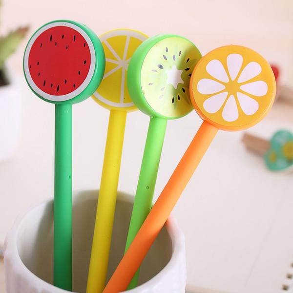 (1pcs/Hot Sell) 0.7mm Cute Kawaii Fruit Decoration Ball Ballpoint Pens Ballpen For Office School Writing Supplies Stationery