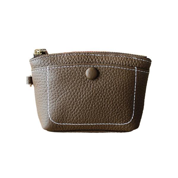 Deri cüzdan kadın kısa yumuşak deri mini çanta çanta öğrenci para değişim sikke çanta