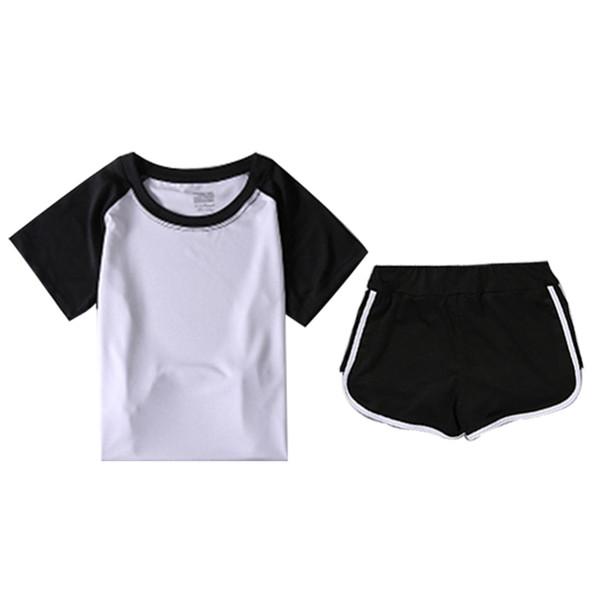 FNMM 2018 New Short Sleeve T-Shirt Yoga Set Sport Wear Women for Fitness Elastic Two Layer Shorts Compression Short Pants Women
