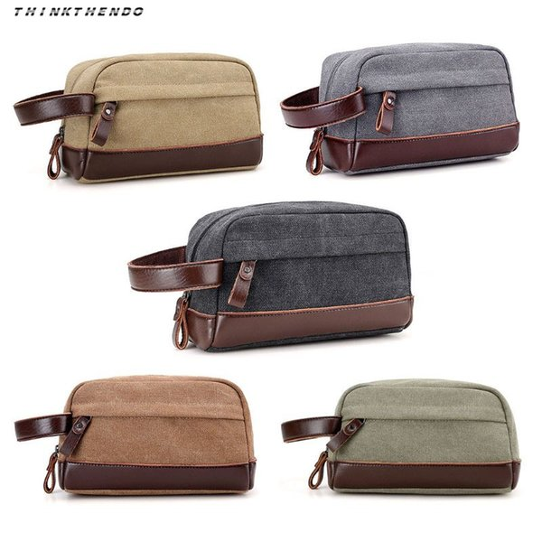 22bd0b6d091a Thinkthendo Fashion Men Vintage Travel Canvas Toiletry Cosmetic Bag Wash  Shower Makeup Organizer Portable Case Pouch Handbag New Caboodle Makeup  Case ...
