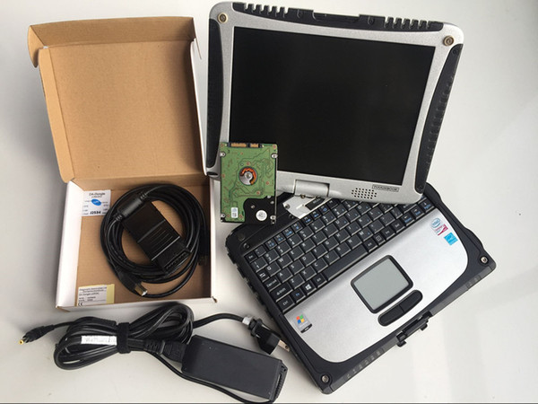 DA-Dongle j2534 diagnostics device obd2 full interface programming v145 hdd 160gb installed in laptop toughbook cf 19 touch screen