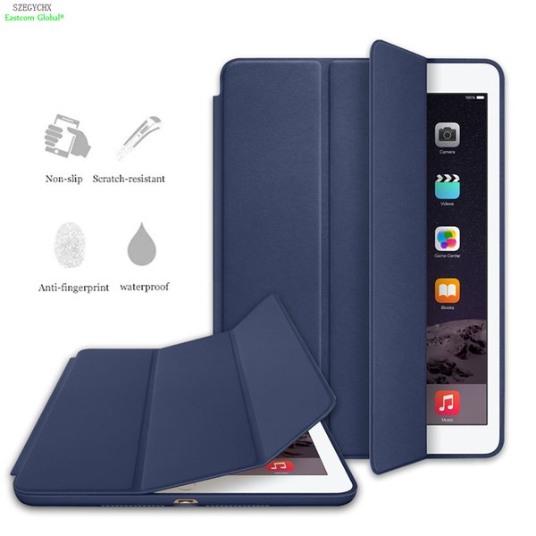Original Ultra Slim Smart Cover For iPad 234 Mini123 Air 1 Pro 9.7 PU Leather Tablet Cases For iPad 5,Auto Wake/Sleep For ipad 7