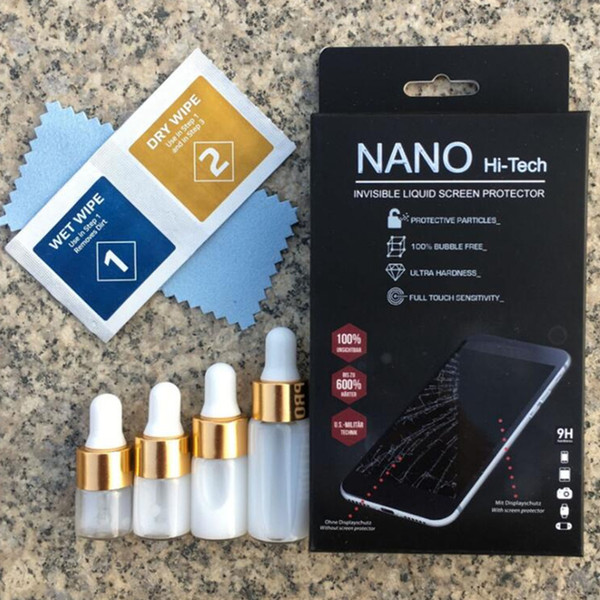 1ml 3ml 5ml nano coating liquid creen protector for univer al gla creen guard film for all martphone 9h 4d 5d full curved gla