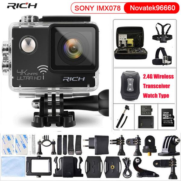 ZENGIN Eylem Kamera NT96660 Gerçek 4 K 3840 * 2160 P 24FPS Wifi 16MP uzaktan kumanda 170D Lens Mini Kam Su Geçirmez Spor kamera
