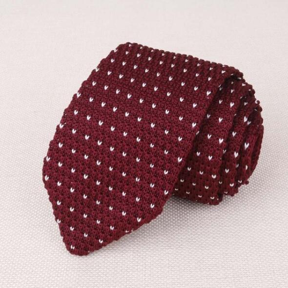 Abiti uomo in maglia Cravatta Plain cravatta per la festa di nozze smoking a righe tessuto Magro Gravatas Cravatte Accessori