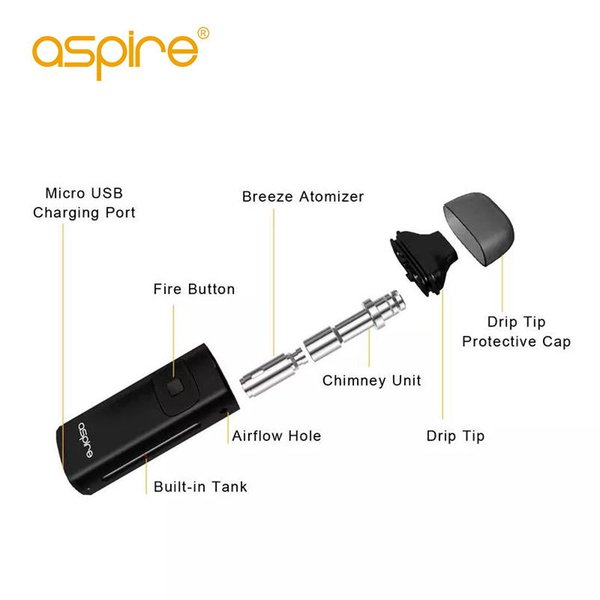 Factory price Aspire Breeze coil coils 0.6/1.2 ohm resistance replacement match aspire Breeze kit ecig