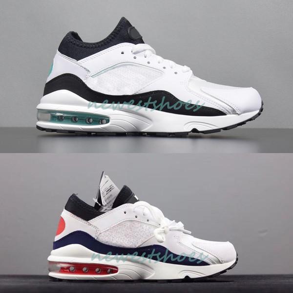 Großhandel 2018 Neue Beste Qualität 93 Dusty Cactus White Turquoise Herren Damen Laufschuhe, 93s Flame Red Herren Weiß Habanero Red Shoe Designer