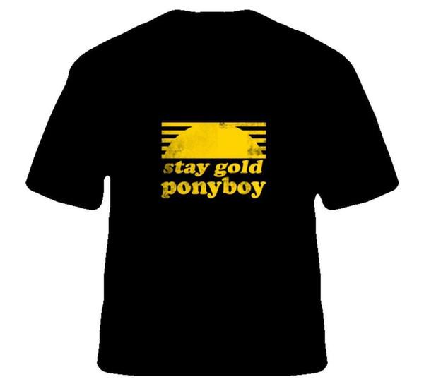 Restez Or Ponyboy The Outsiders Film Livre T Shirt Nouvelle Arrivée Tees Homme Casual Garçon T-Shirt Tops Réductions