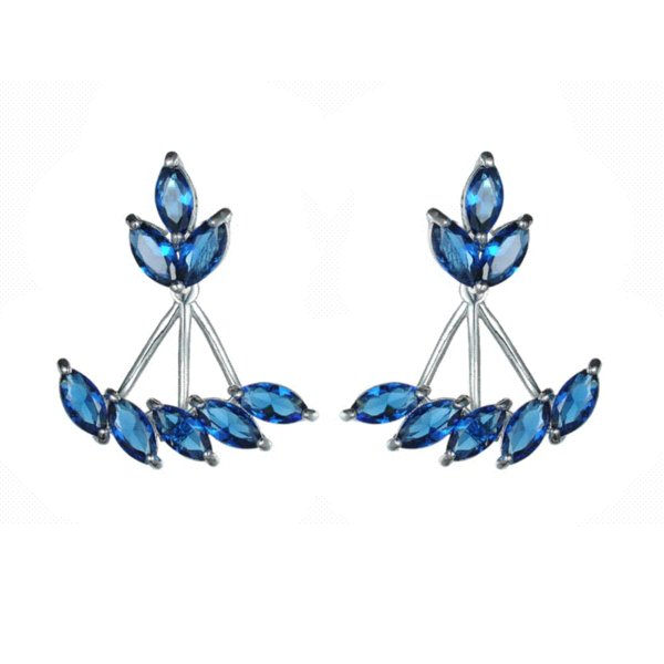 KIVN Womens Fashion Jewelry CZ Cubic Zirconia Bridal Wedding Earring Ear Jackets Girls Mothers Day Birthday Christmas Gifts