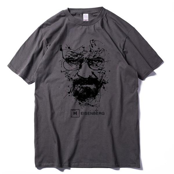 Top-Qualität Baumwolle Heisenberg lustige Männer T-Shirt Casual Kurzarm brechen schlechte Druck Herren T-Shirt Mode coole T-Shirt für Männer