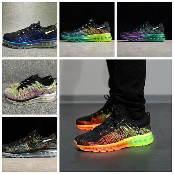 2017 New outdoorr Male Leisure Low Sneakers Luxury Designer Fly Line Weave Lace-up Plaid Sports Running Shoe Zapatos