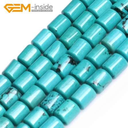 "GEM-inside 6x8mm Column Shape Natural Turquoises Beads Natural Stone Beads DIY Loose Beads For Jewelry Making Strand 15 "" DIY !"