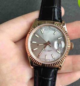2018 Top Quality Luxury Men's Leather Bracelet Mechanical Automatic Watches Wristwatch Fashion Luminous watch mens wristwatch