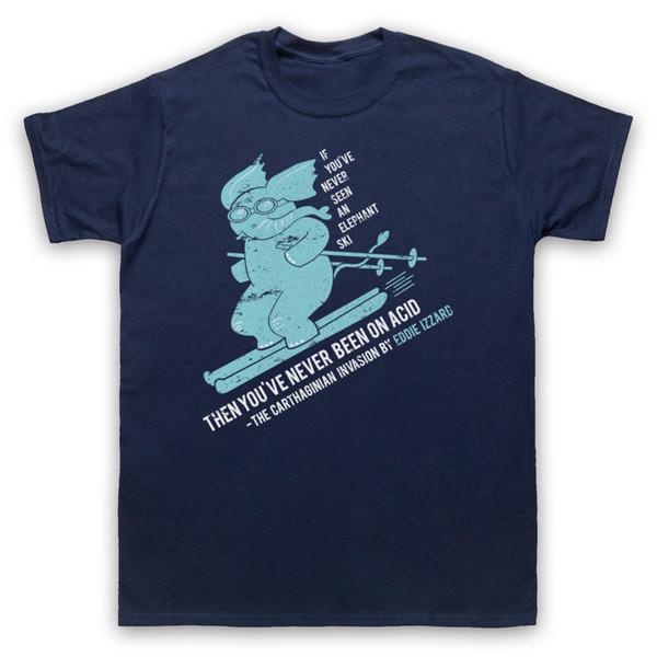 ELEFANTE ESQUI NÃO OFICIAL EDDIE IZZARD COMÉDIA ENGRAÇADO T-SHIRT ADULTOS CRIANÇAS TAMANHOS top frete grátis t-shirt