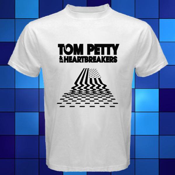 Nova TOM PETTY THE HEARTBREAKERS Tour Logo T-Shirt Branco Tamanho S M XL XL 2XL 3XL homens de manga curta Tee T camisa o-pescoço de malha confortável