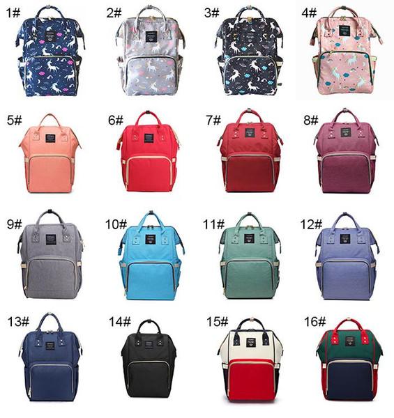 14 couleurs nouvelle couche multifonctionnelle sac à dos licorne sac bébé maman sac à langer sac à dos maman sac à dos couche mère sacs à dos