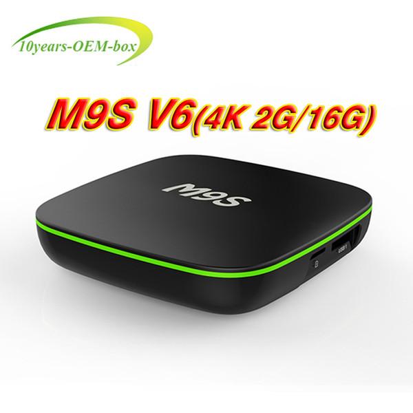 M9S V6 Android7.1 TV Box 2GB 16GB RK3229 Quad core Cortex A7 Support HD HDMI Wifi 4K Smart Internet Boxes Better X96 Mini S905W