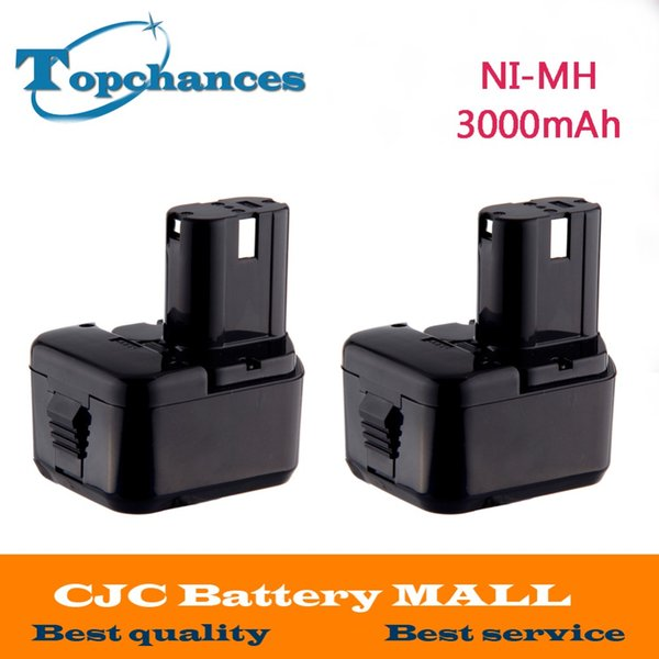 Batteries Rechargeable Batteries 2PCS 12V 3000mAh Battery for Hitachi 1214S 1220BL EB1220HL EB1220HS DH15DV 12DY DN12DYK DN12Y DW18D