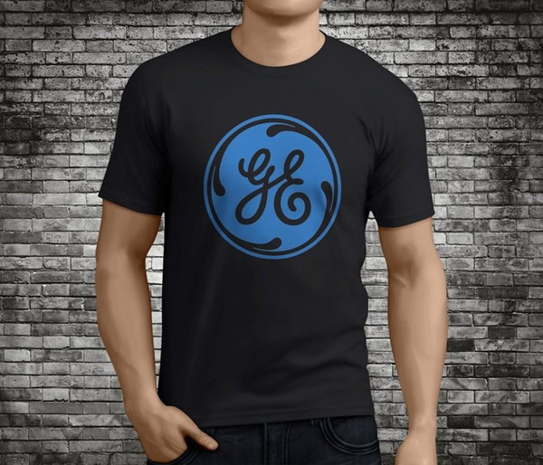 Fashion New Arrival Simple Men's Short Sleeve Gift O-Neck New Popular Ge General Electric Black T-Shirt Size S-3XL Shirts