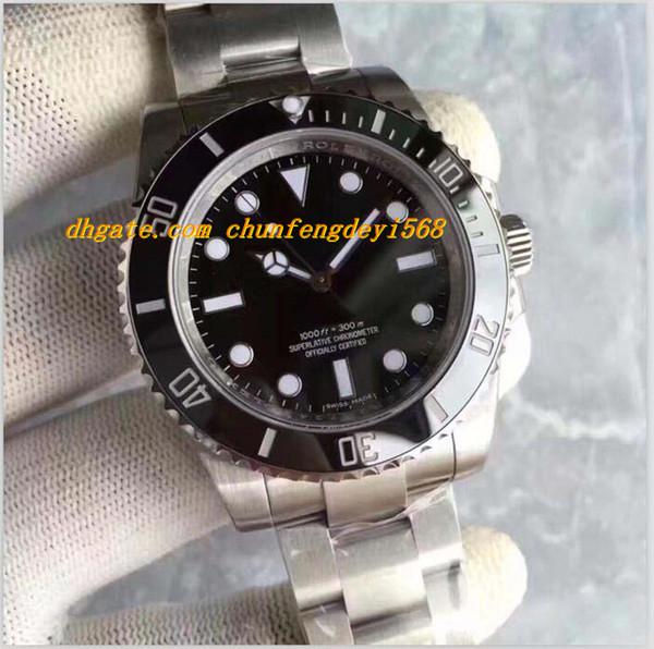 Luxury Best V7 Version Mens Automatic Watch Black Ceramic Bezel Eta 3135 Movement No Date Men 114060 Luminescent Dial
