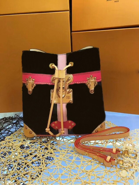 High quality Women Handbags M44022 Noe bucket bags Messenger Cross Body Bags cx#259 Genuine Leather Neonoe handbags With Straps Wallets