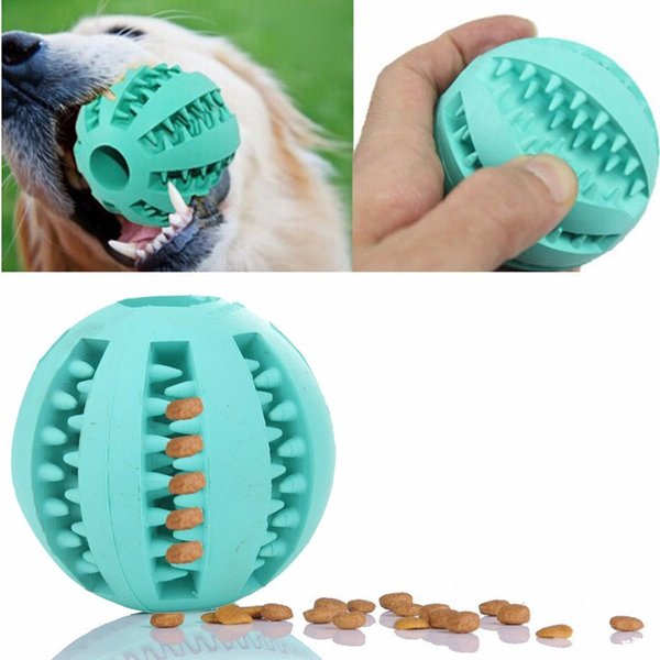 Pet Dog Puppy Squeaky Chew Toy Sound Pure Natural Non-toxic Rubber Resistant to Bite Teeth Cleaner Ball
