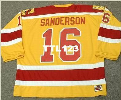 488ca6d97 2019 Mens #16 DEREK SANDERSON Philadelphia Blazers 1973 WHA Retro ...