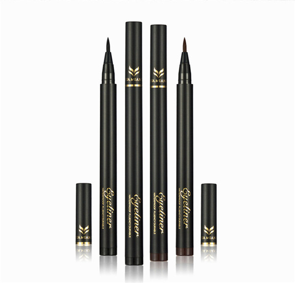 New China Brand HUAMIANLI Eyeliner Pencil 2 colors Black Dark Brown waterproof Thickness Control Eye liner High quality DHL shipping