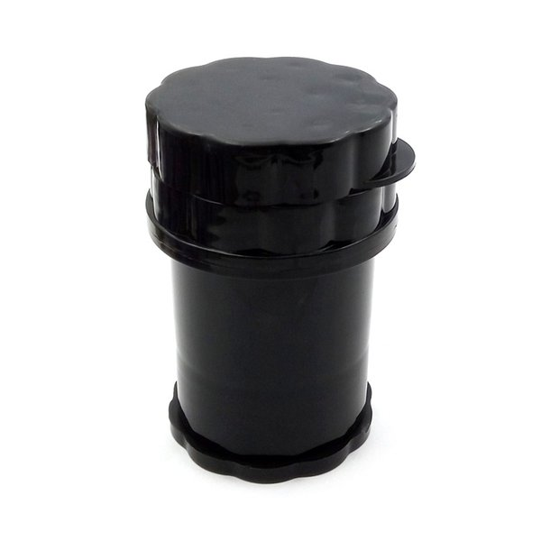 Free Shipping Cheap Plastic Grinder Water Tight Air Tight Medical Grade Plastic Smell Proof Tobacco Herb plastic case 3 layers Grinder 35mm