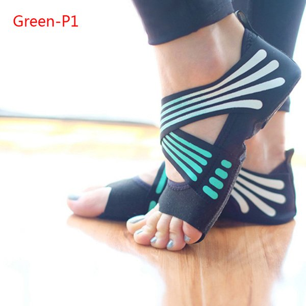 1 Pair Strap Yoga Shoes Non-slip Professional Fitness Dew Feet Adult Yoga Socks