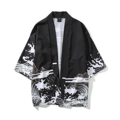 Mens Kimono Japanese Clothes Streetwear Casual Kimonos 2018 Summer Autumn Jackets Harajuku Japan Style Cardigan Outwear for Men Drop Ship