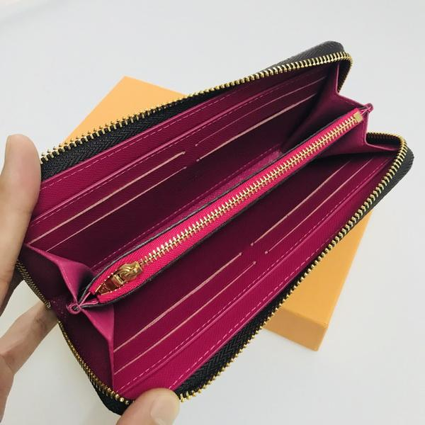 M62647 AAA France Luxury Designer Women Long CLEMENCE WALLET Mono Gram Damier Coated Canvas Brown Checkered Canvas Free Shipping
