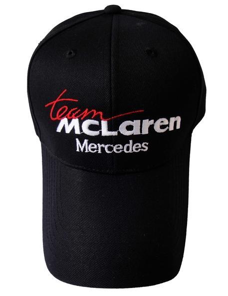 ab1d2835 Mercedes MCLaren Logo Black Style Auto Logo Adjustable Embroidered ...
