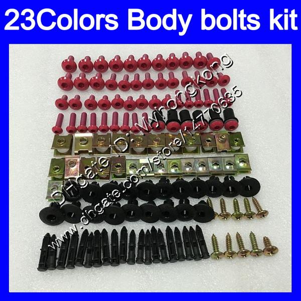 Kit completo de tornillos de carenado Para YAMAHA R6 YZFR6 08 09 10 11 YZF-R6 YZF600 YZF R6 2008 2009 2010 2011 Tuercas de cuerpo tornillos tuercas kit de tornillos 25Colors