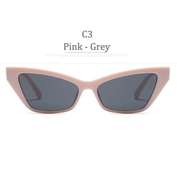 Lente grigia con montatura rosa C3