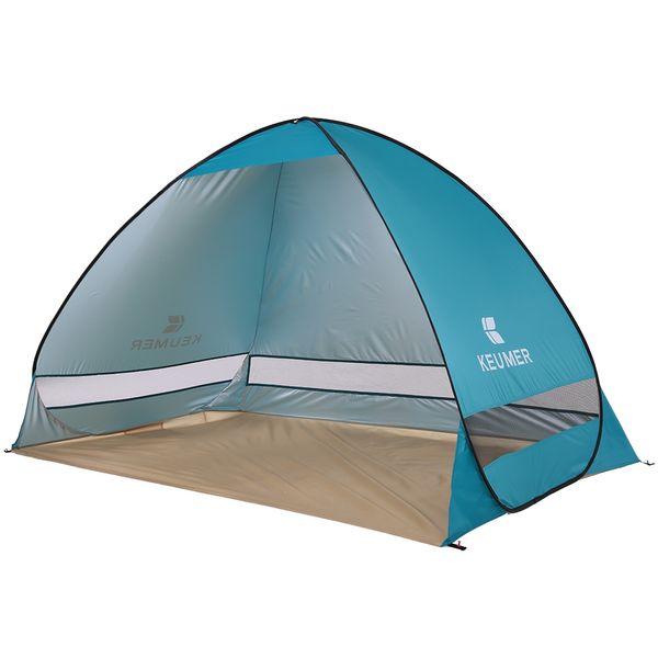 Keumer Otomatik Plaj Çadır 2 Kişi Kamp Çadırı Uv Koruma Barınak Açık Çadır Anında Pop Up Yaz Çadır 200 * 120 * 130 Cm