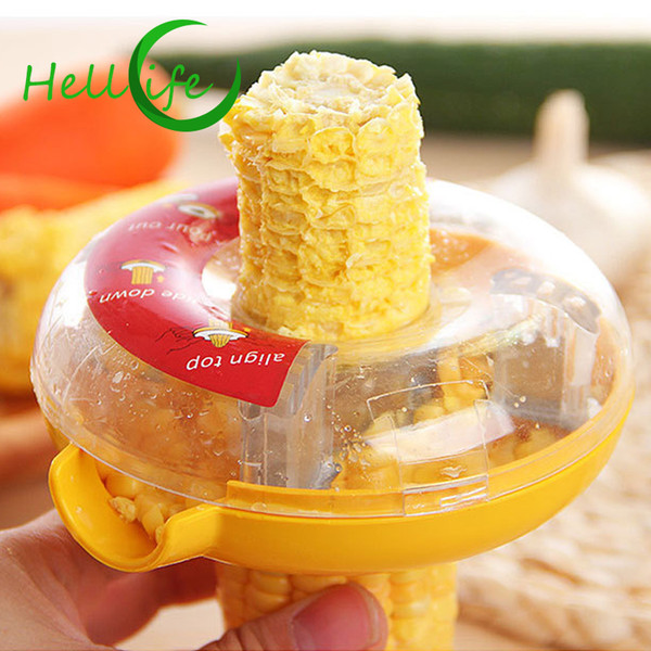 HELLOLIFE Fresh Corn Stripper Sweet Corn Threshing Device For Cob Cutter Remove Easy Peel Corn Kerneler Peeler Kitchen Tools
