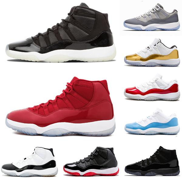 Scarpe da uomo di design 11s allevati scarpe da basket uomo 45 uomo da uomo Prom Night gamma blu donne palestra donna rosso Sneaker spedizione gratuita