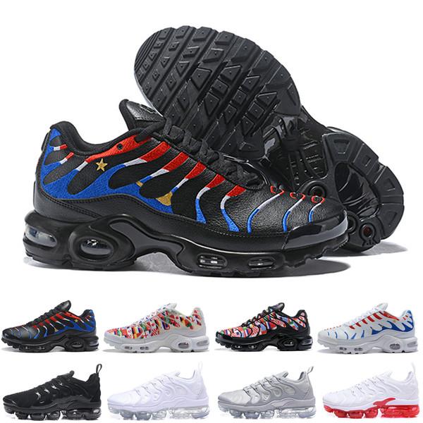 hot sales 6f1cd 123e3 2018 New TN Plus Mens Designer Shoes VM Olive In Metallic White Silver  Colorways Women Men