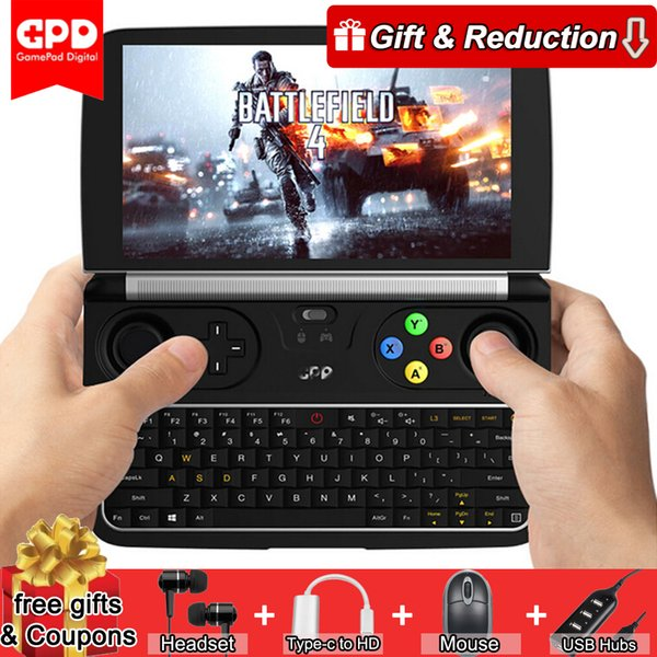 top popular GPD WIN 2 Win2 6 Inches Game Console Gamepad Handheld Mini Notebook Windows10 8GB 128GB Quad Core 2.4G 5G Dual Band Touch Screen 2019