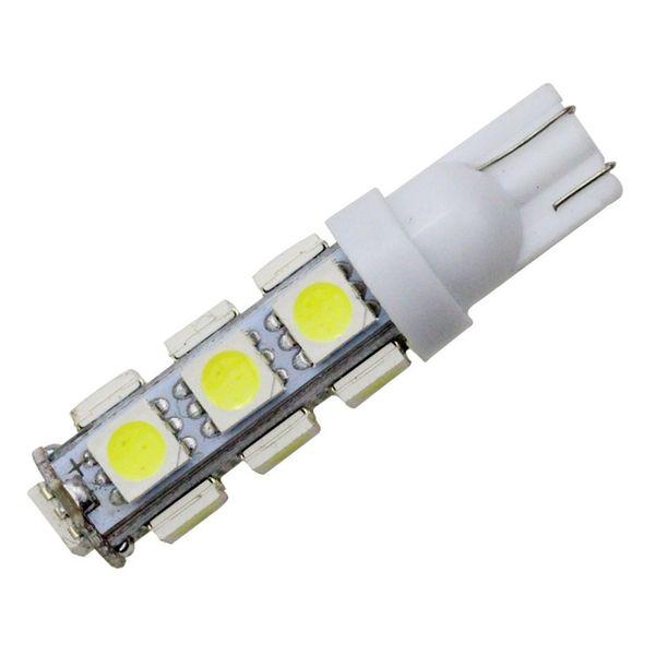 YSY 100X blanc T10 13 SMD 5050 13LED 13Smd 194 168 192 Auto voiture côté ampoule 194 168 W5W LED lampe de coin 12V en gros